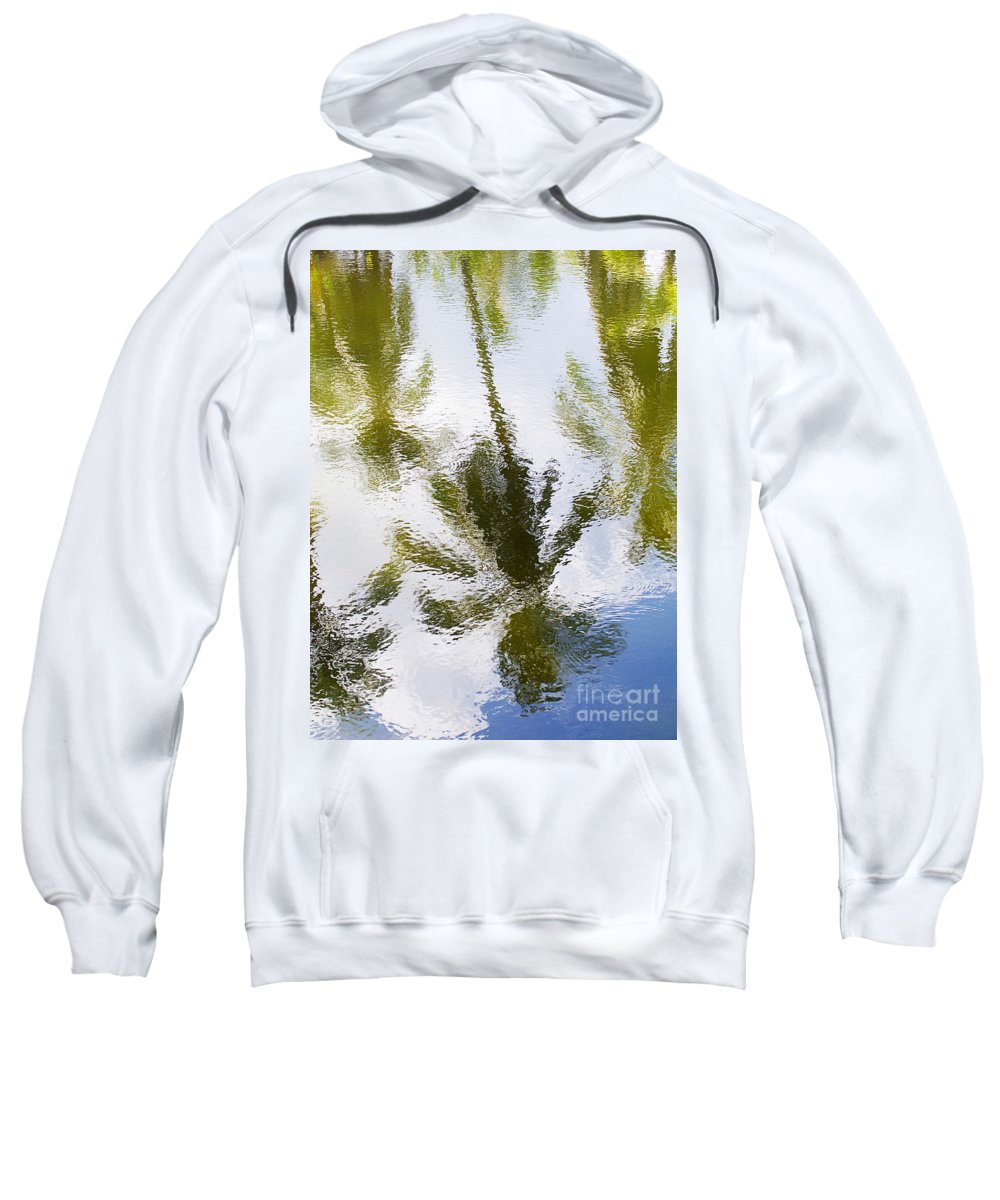 Blue Sweatshirt featuring the photograph Palm Reflections by Ron Dahlquist - Printscapes