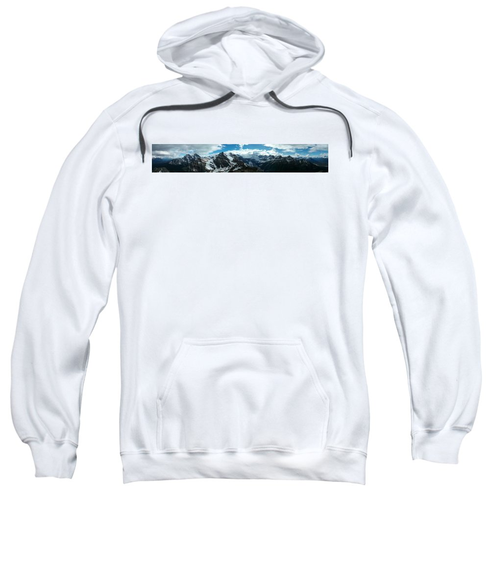 Outdoors Sweatshirt featuring the photograph Panorama View by Lone Summit