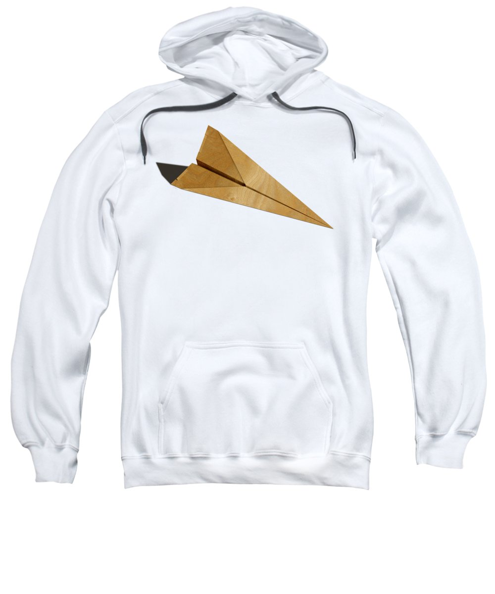 Aircraft Sweatshirt featuring the photograph Paper Airplanes Of Wood 15 by YoPedro