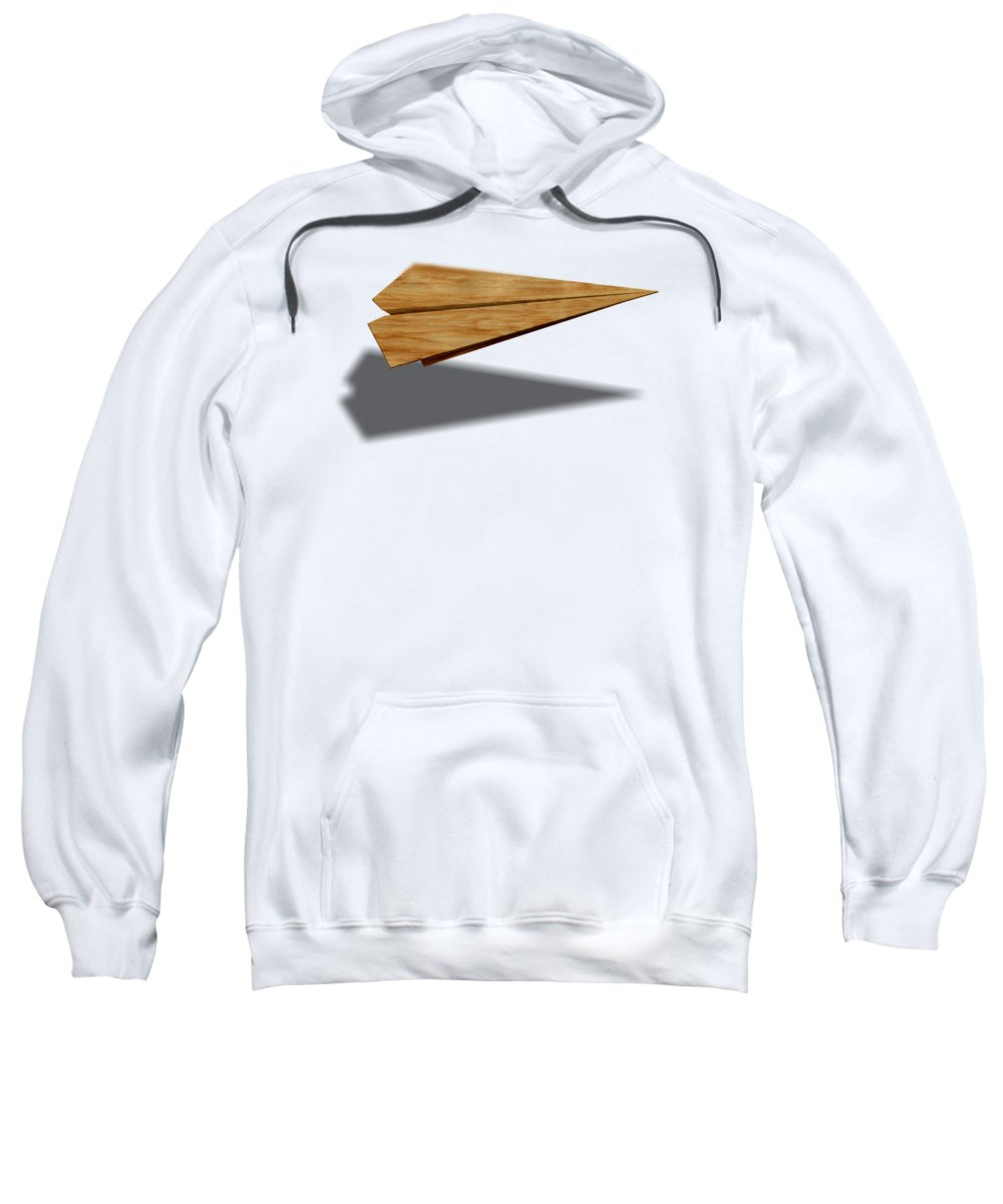 Aircraft Sweatshirt featuring the photograph Paper Airplanes of Wood 9 by YoPedro