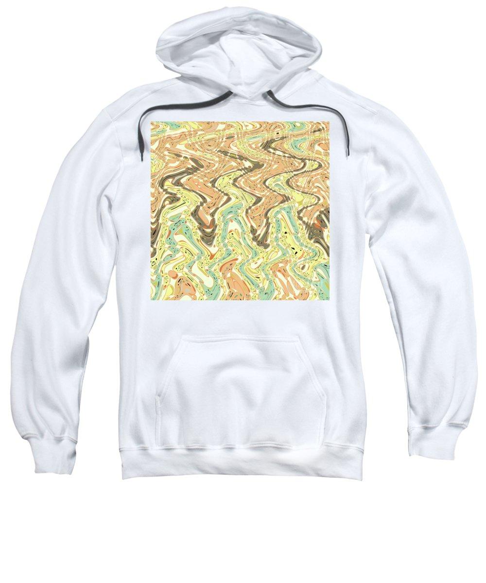 Fine Art Sweatshirt featuring the digital art Parallel Paths by Gaspar Avila