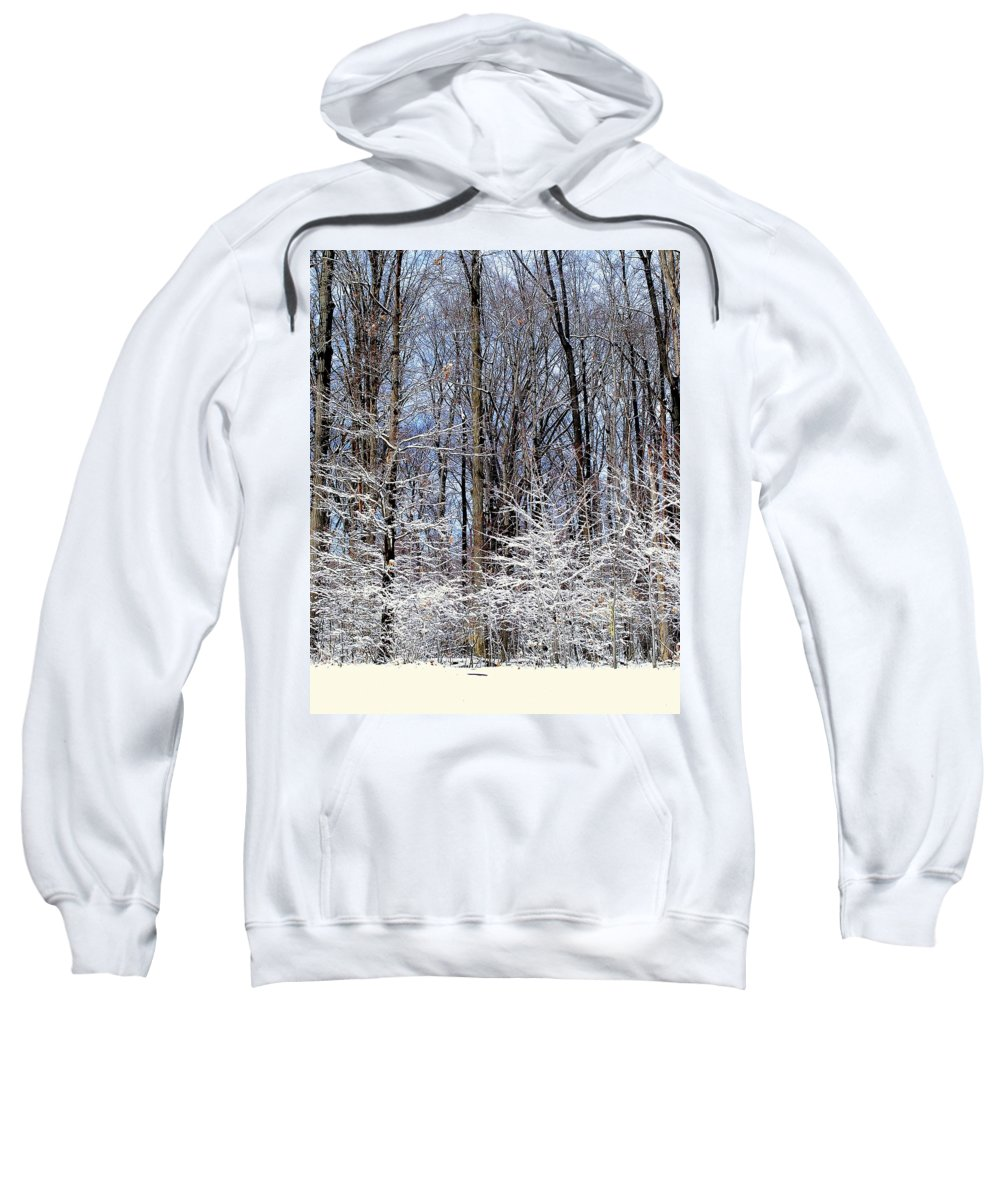 Trees Sweatshirt featuring the photograph Parents With Children by Frozen in Time Fine Art Photography