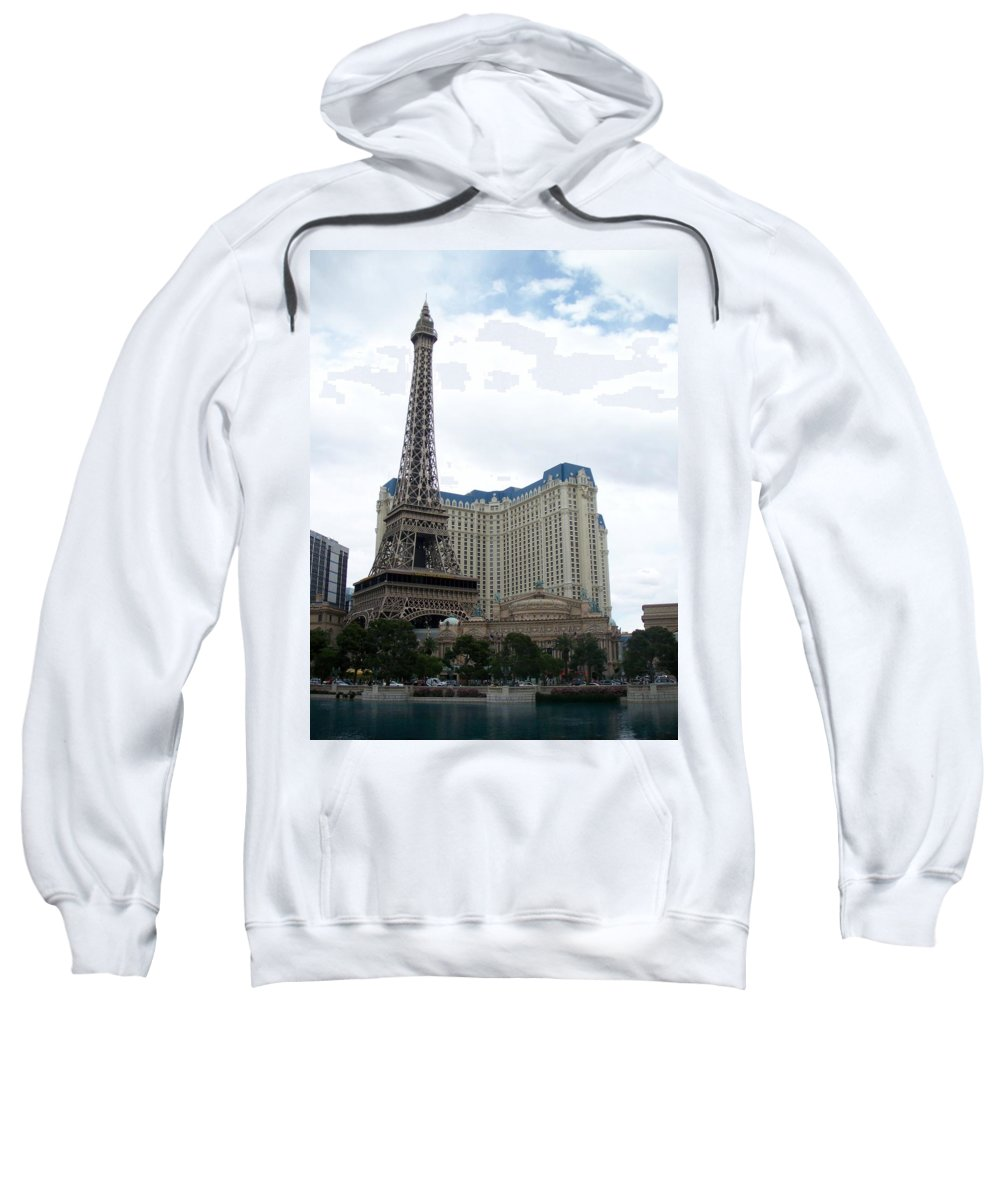 Bellagio Sweatshirt featuring the photograph Paris Hotel by Anita Burgermeister