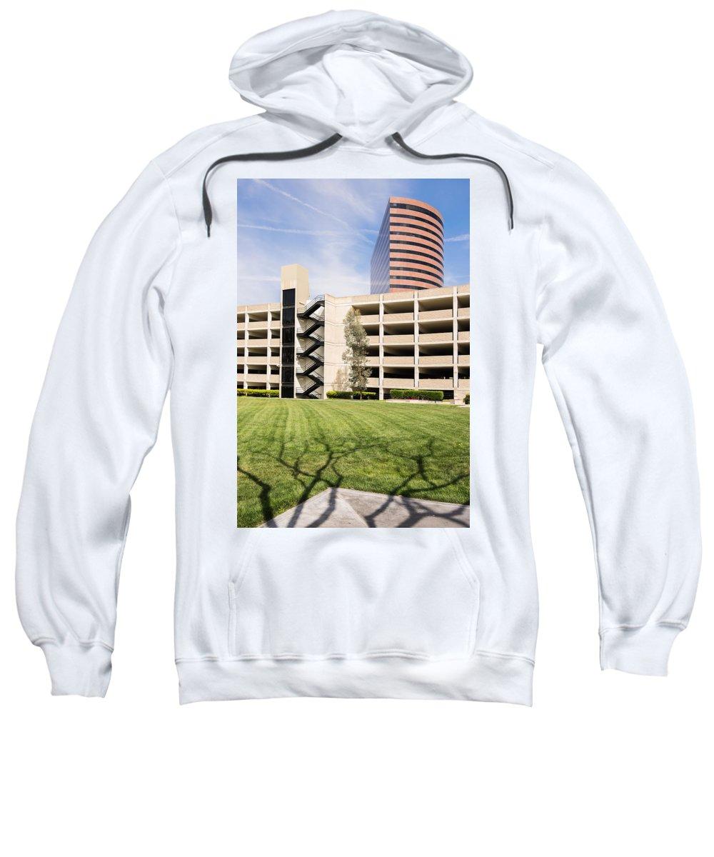 Buildings Sweatshirt featuring the photograph Parking Garage by Robert VanDerWal