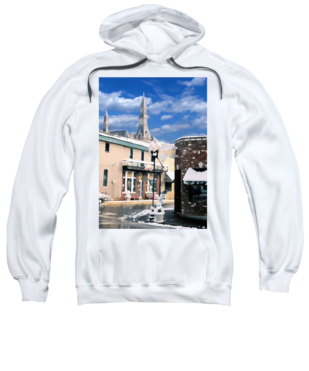 Landscape Sweatshirt featuring the photograph Parkville In Winter by Steve Karol