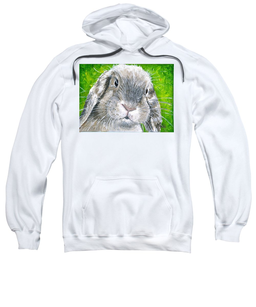 Charity Sweatshirt featuring the painting Parsnip by Mary-Lee Sanders