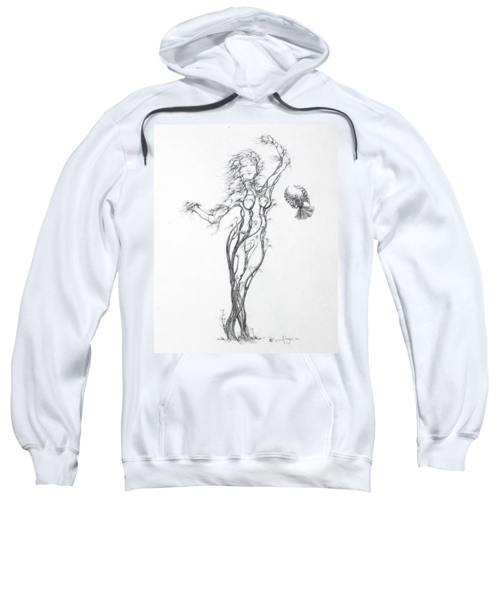 Tree Dancer Sweatshirt featuring the drawing Partners In The Dance by Mark Johnson