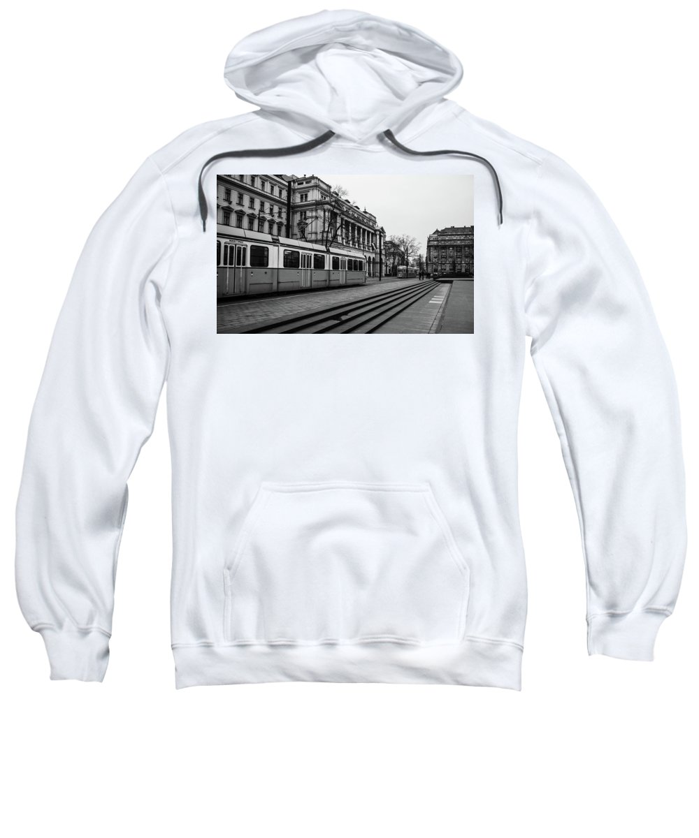Budapest Sweatshirt featuring the photograph Passing. by Angela Aird