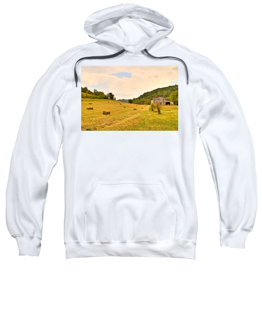 Pastorial Sweatshirt featuring the photograph Pastorial Framland In Kentucky by Douglas Barnett