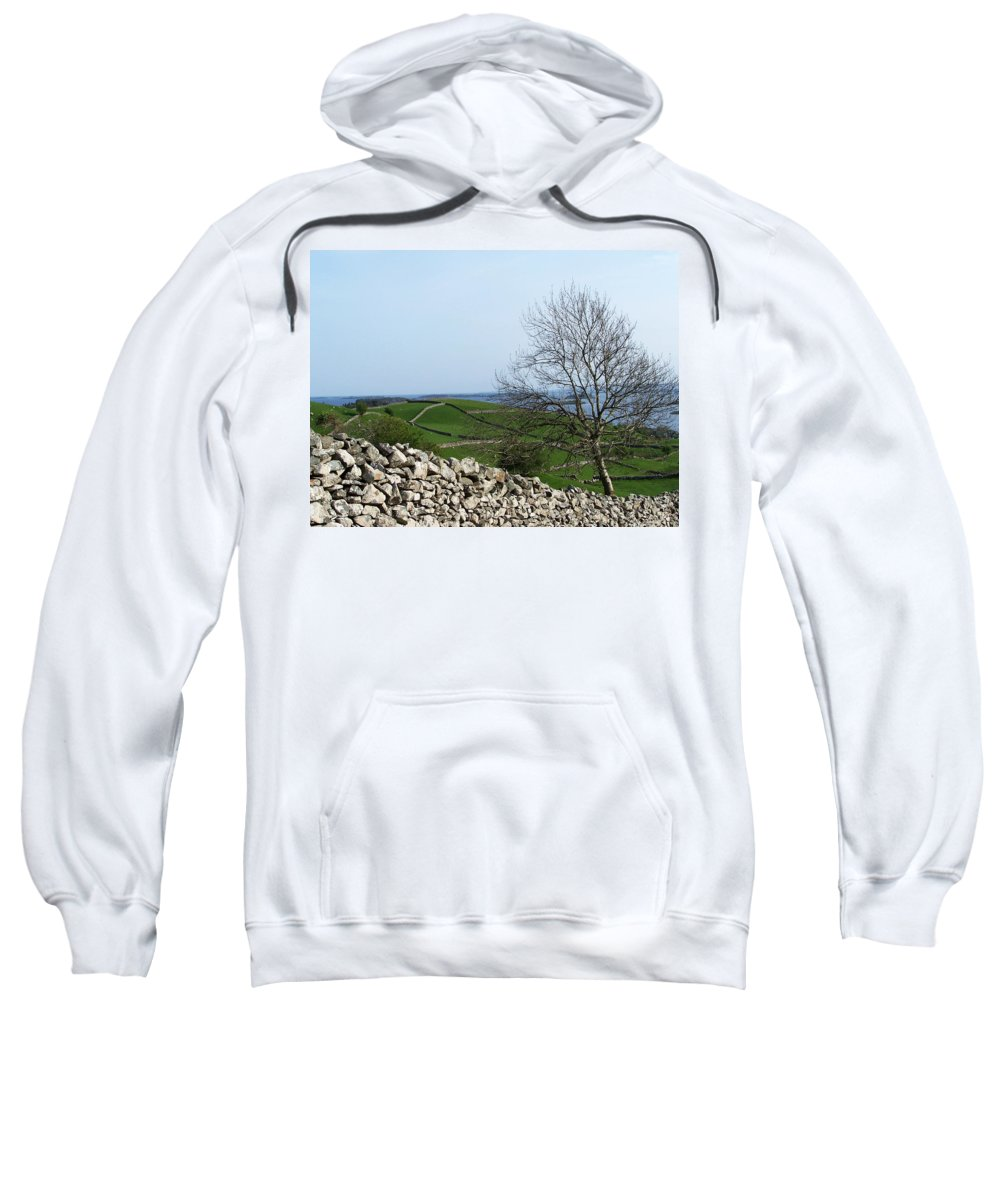 Irish Sweatshirt featuring the photograph Patchwork Quilt Lough Corrib Maam Ireland by Teresa Mucha