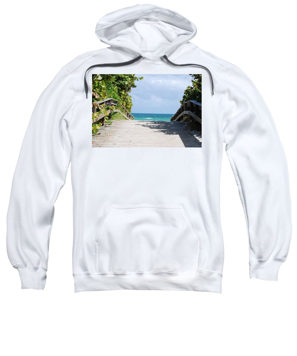 Sea Scape Sweatshirt featuring the photograph Path To Paradise by Rob Hans