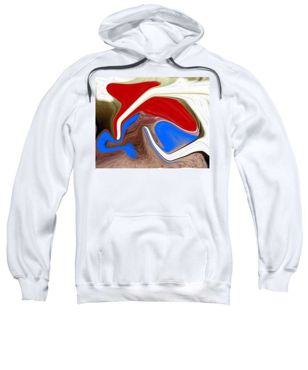 Abstract Sweatshirt featuring the photograph Patriot by Allan Hughes