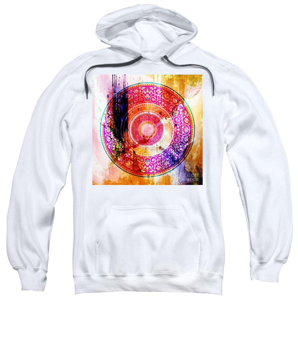 Islamic Pattern Sweatshirt featuring the painting Pattern Art 004 by Gull G