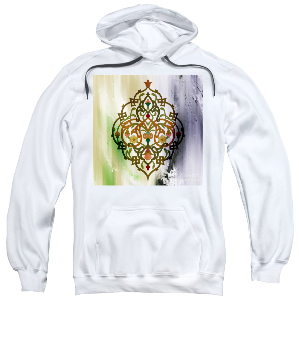 Islamic Art Sweatshirt featuring the painting Pattern Art 007 by Gull G