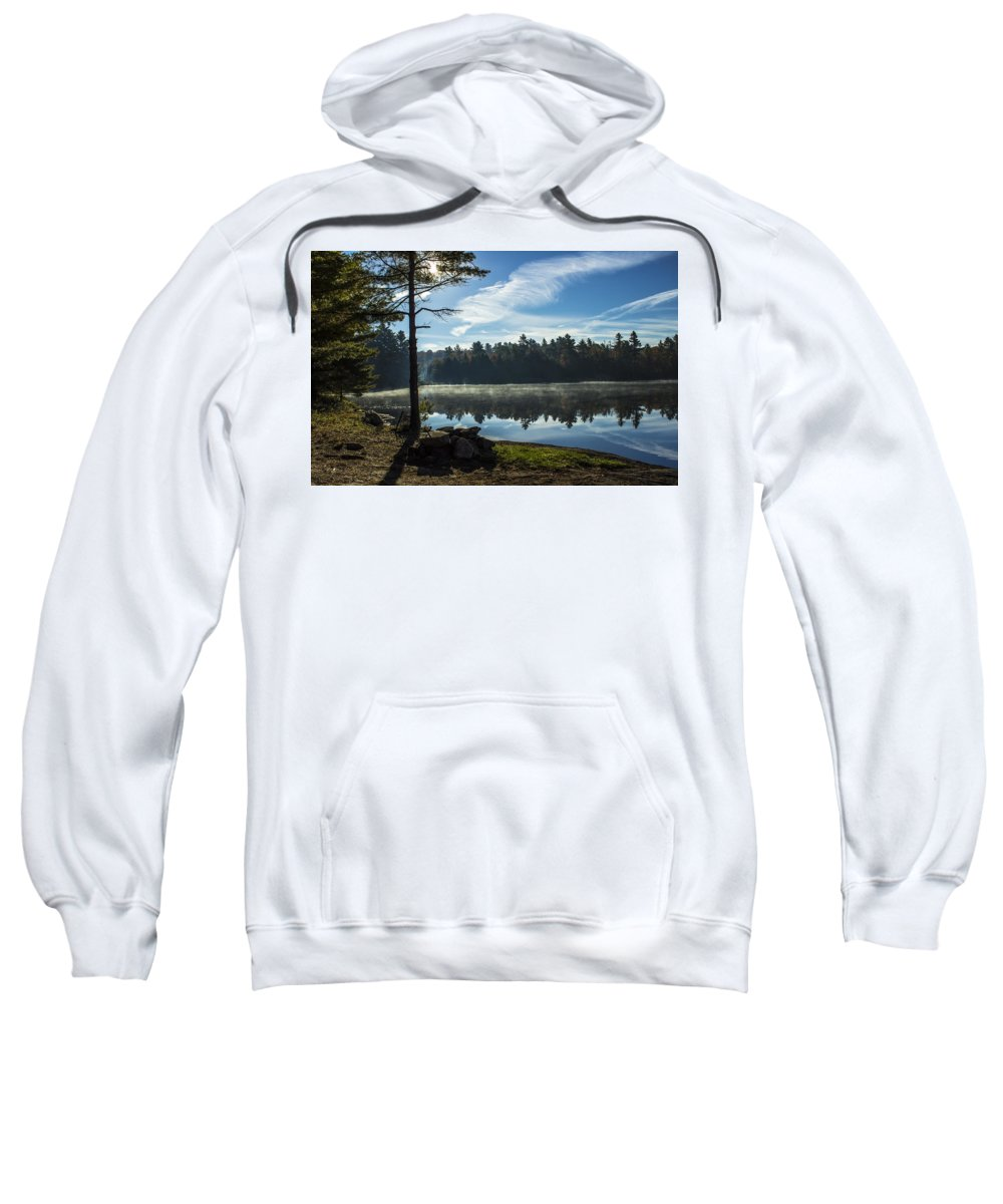 Lake Sweatshirt featuring the photograph Pauper Lake Morning by Spencer Bush