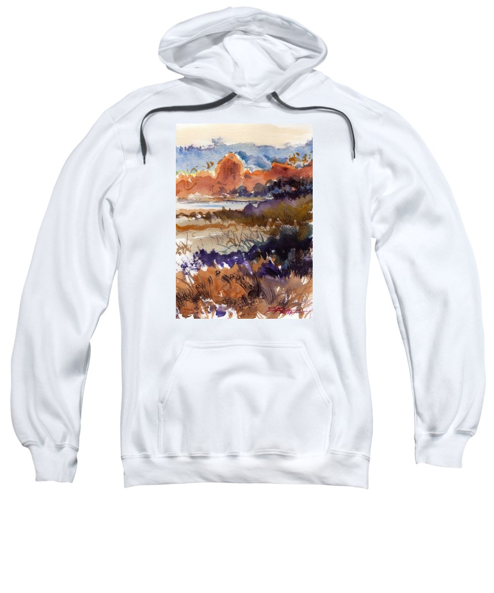 Seascape Sweatshirt featuring the painting Paysage Cci by Alexandre DUMITRESCU