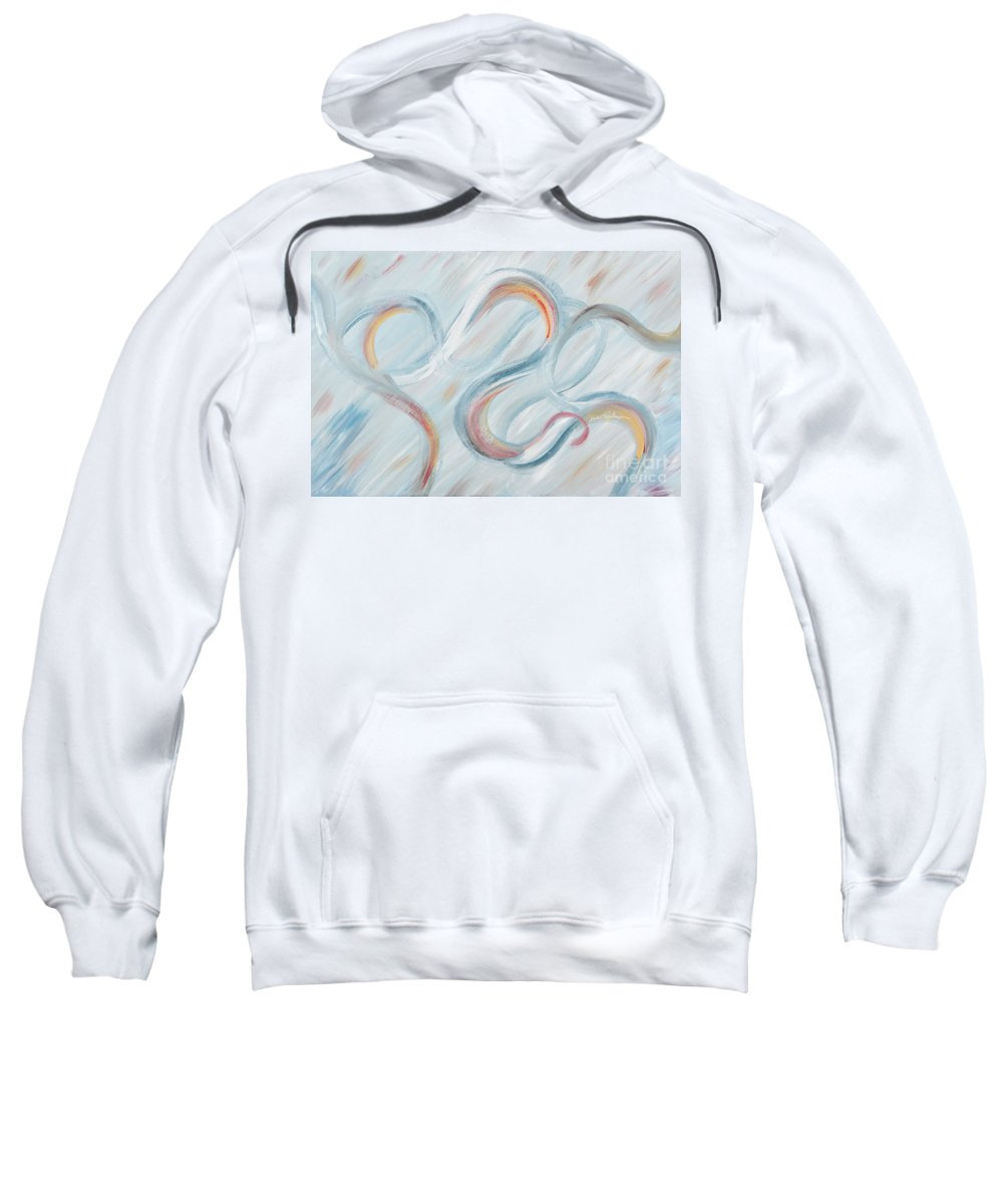 Peace Sweatshirt featuring the painting Peace by Nadine Rippelmeyer