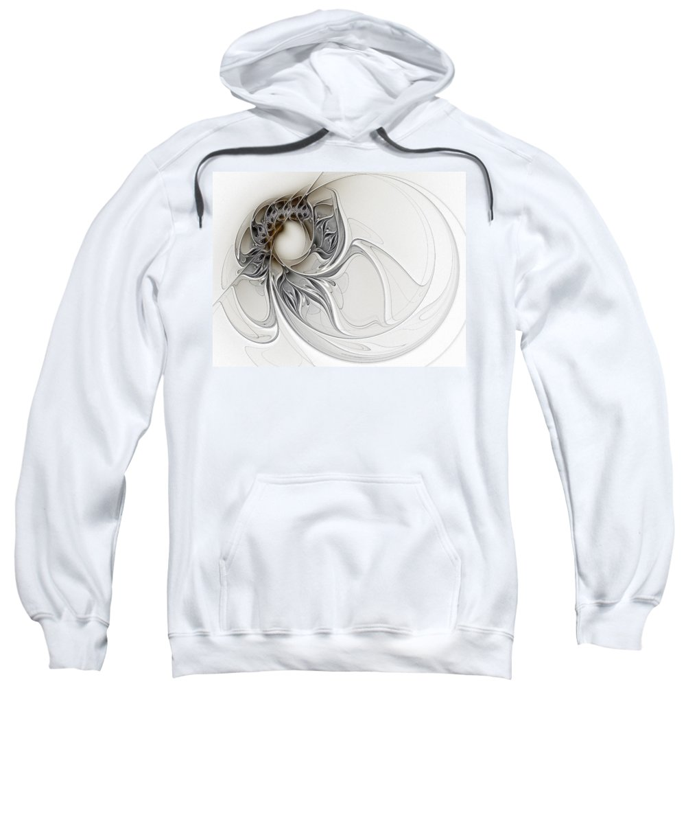 Digital Art Sweatshirt featuring the digital art Pearl by Amanda Moore