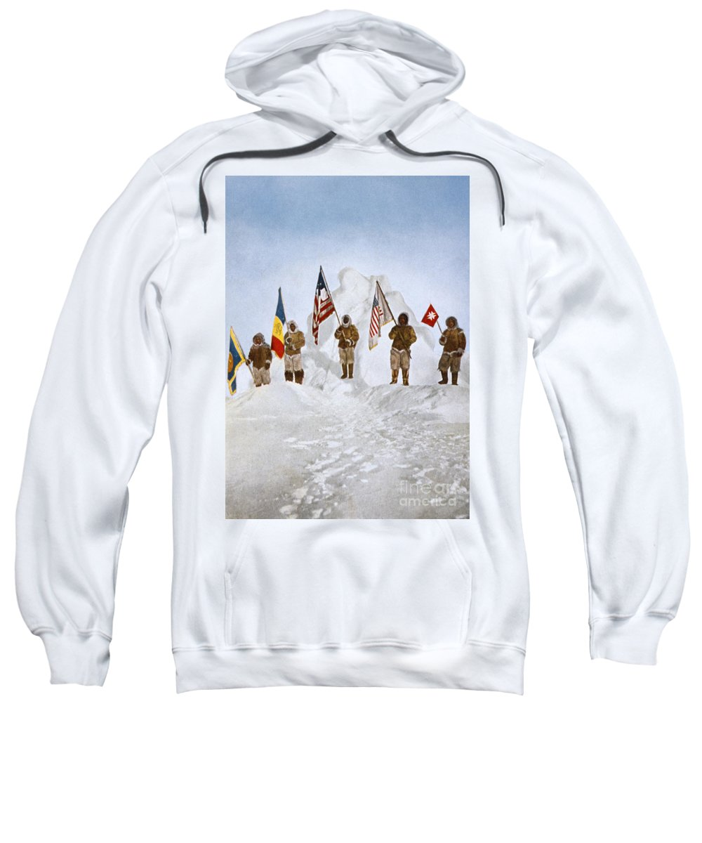 1906 Sweatshirt featuring the painting Peary Expedition, 1906 by Granger
