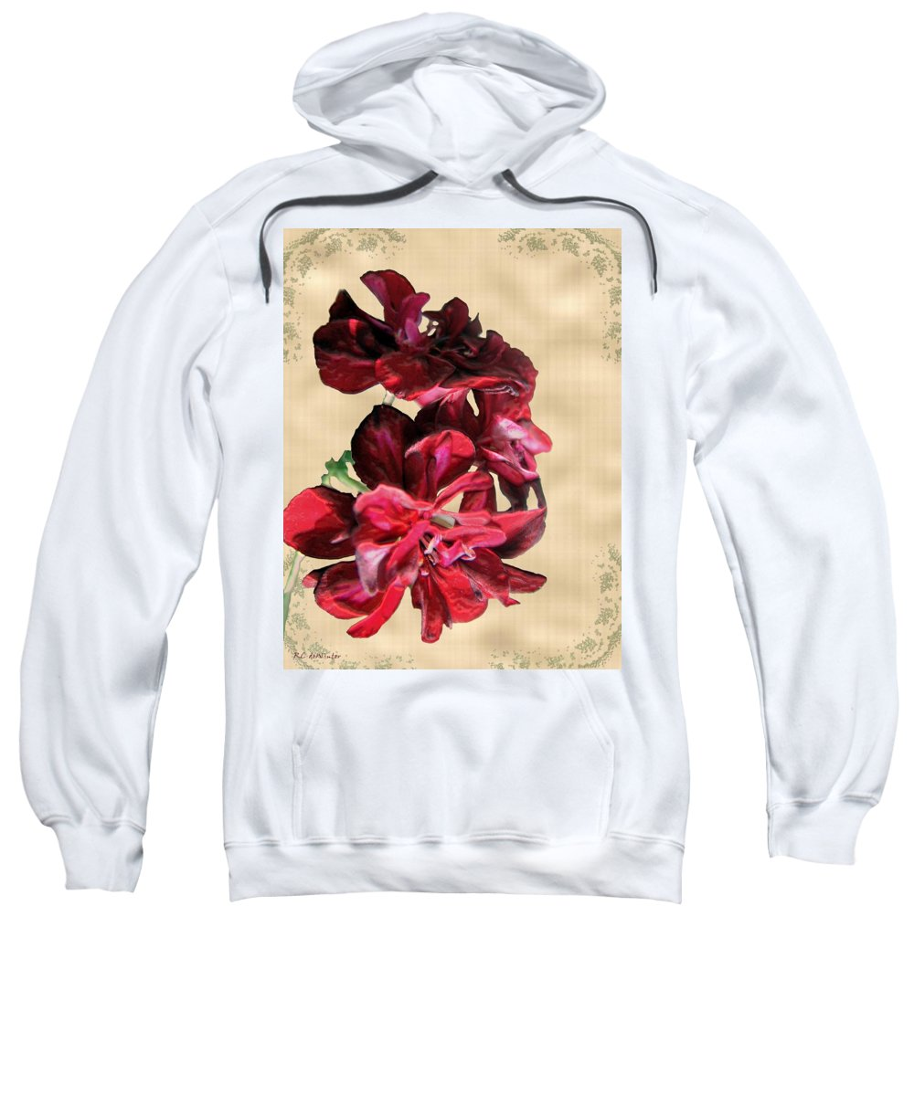 Flowers Sweatshirt featuring the painting Penny Postcard by RC DeWinter