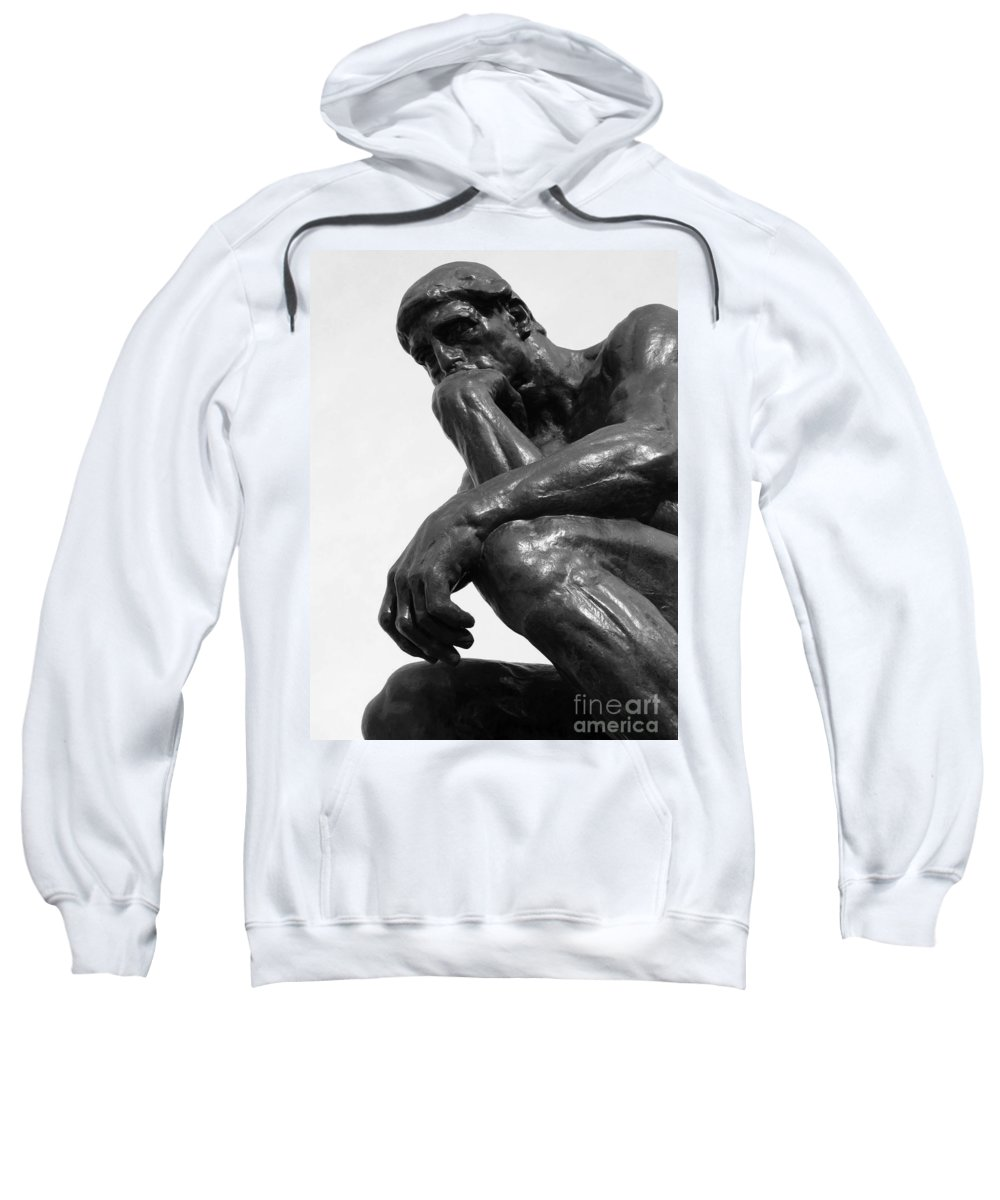 The Thinker Sweatshirt featuring the photograph Pensive by Ann Horn