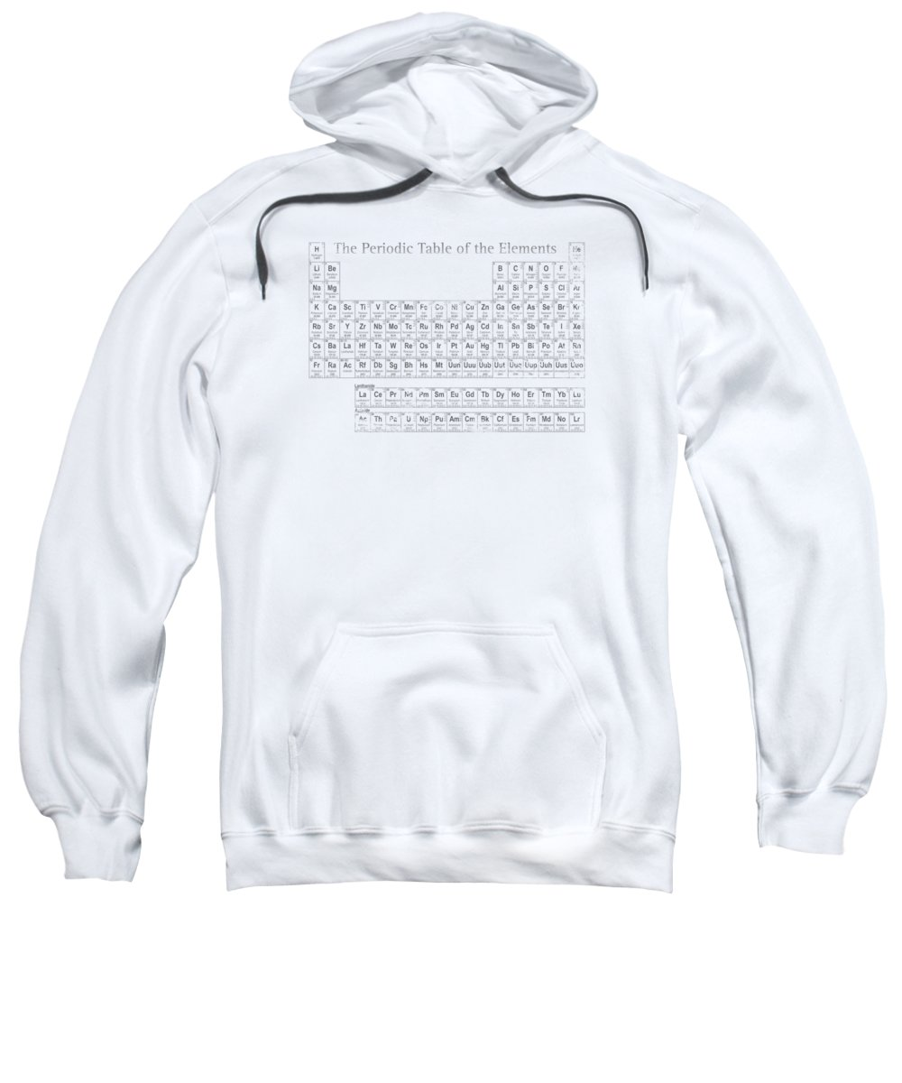 Periodic Sweatshirt featuring the mixed media Periodic Table Of The Elements by Design Turnpike