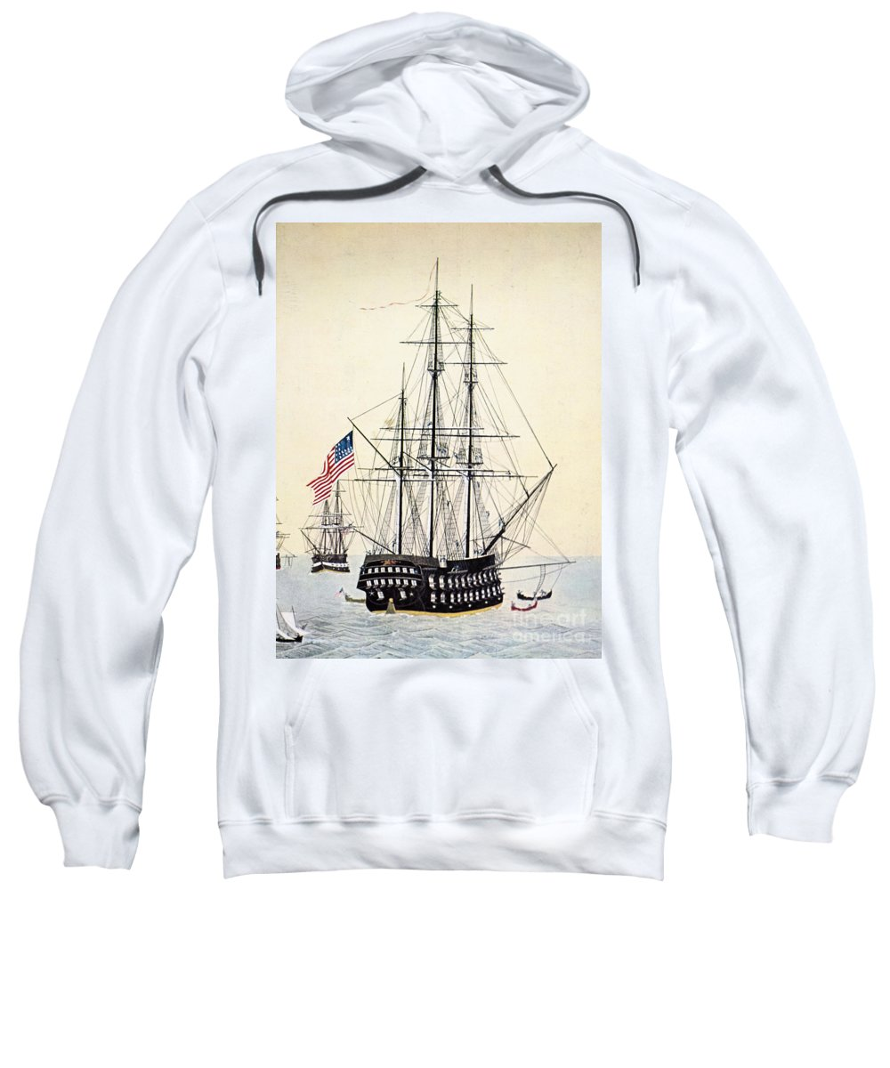 1854 Sweatshirt featuring the painting Perrys Expedition To Japan by Granger