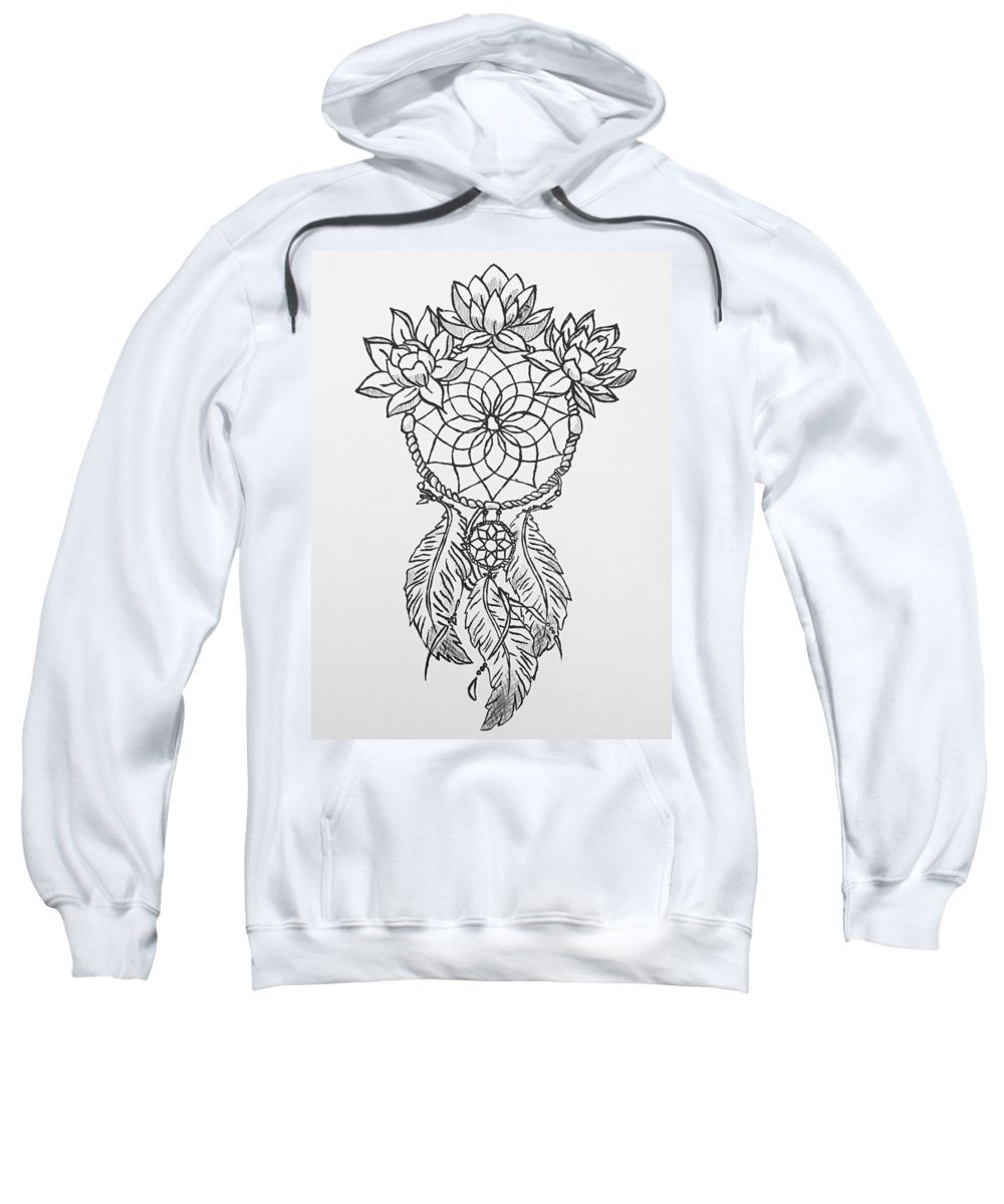 Lithography Sweatshirt featuring the relief Personal Religion by Brandy Hull