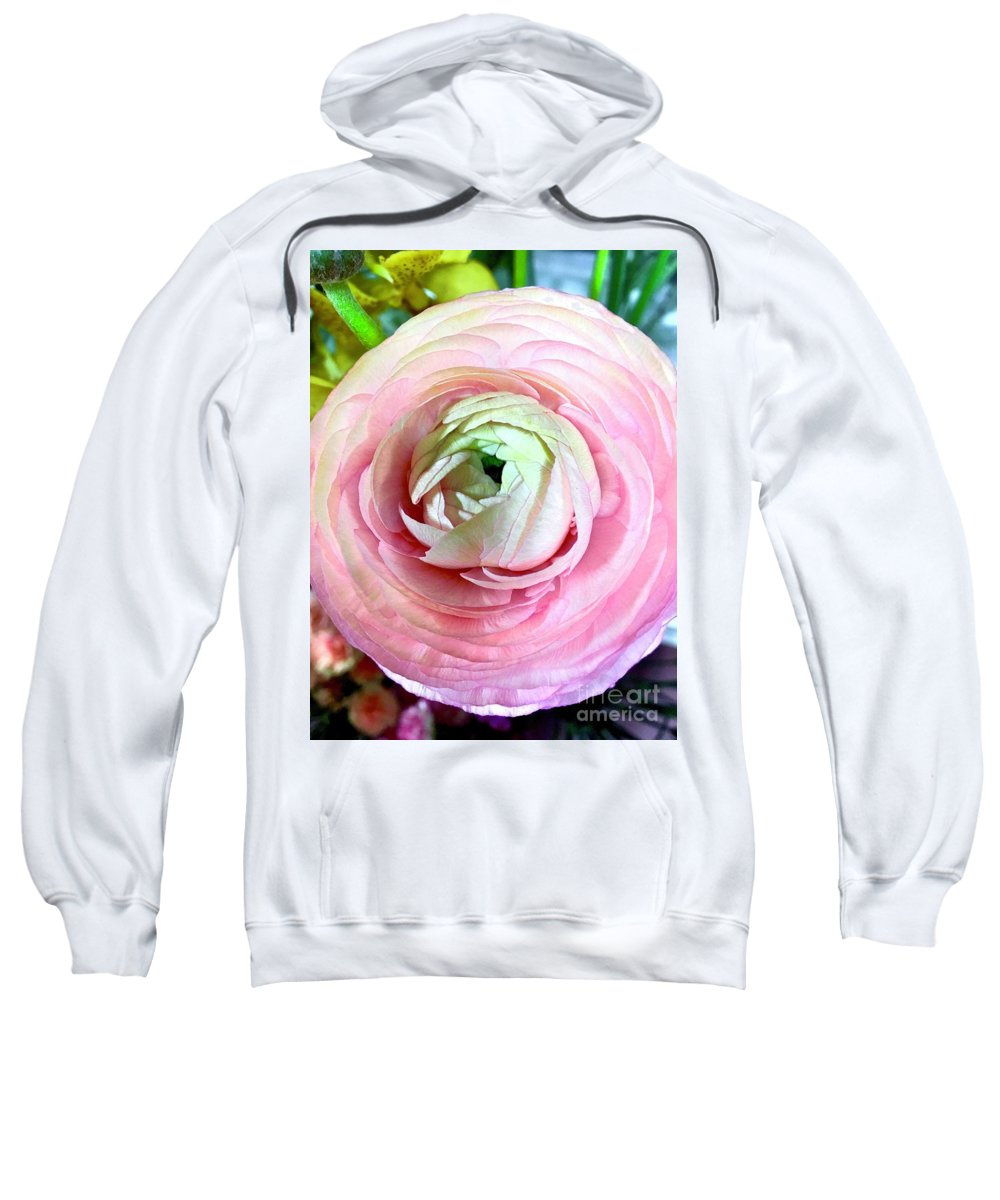 Petal Sweatshirt featuring the photograph Flower, Petal Labyrinth by Anna Holstedt