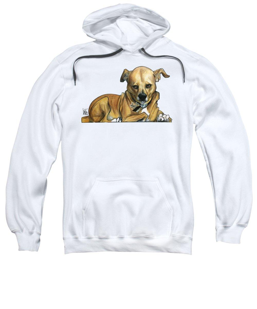 Pet Portrait Sweatshirt featuring the drawing Peterson 3270 by John LaFree