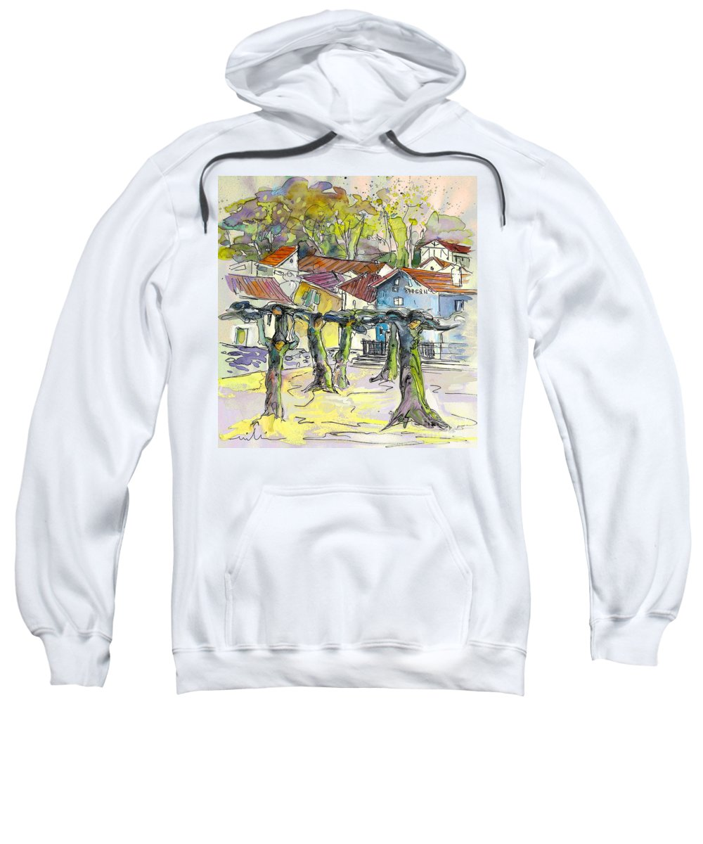 Peyrehorade Sweatshirt featuring the painting Peyrehorade 03 by Miki De Goodaboom
