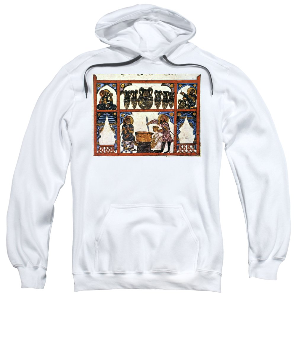13th Century Sweatshirt featuring the photograph Pharmacy: Arabic Ms by Granger