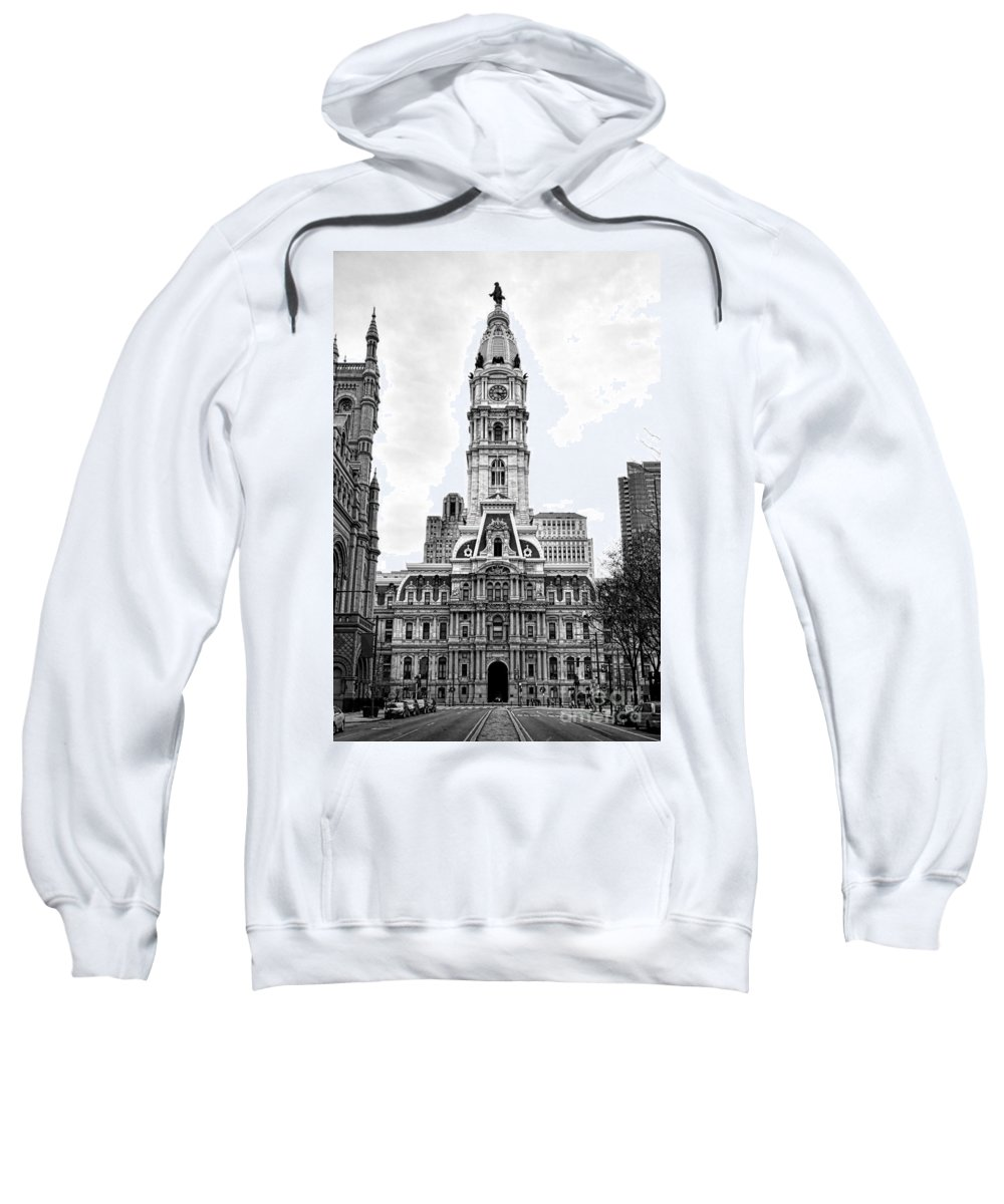 Philadelphia Sweatshirt featuring the photograph Philadelphia City Hall Building On Broad Street by Olivier Le Queinec