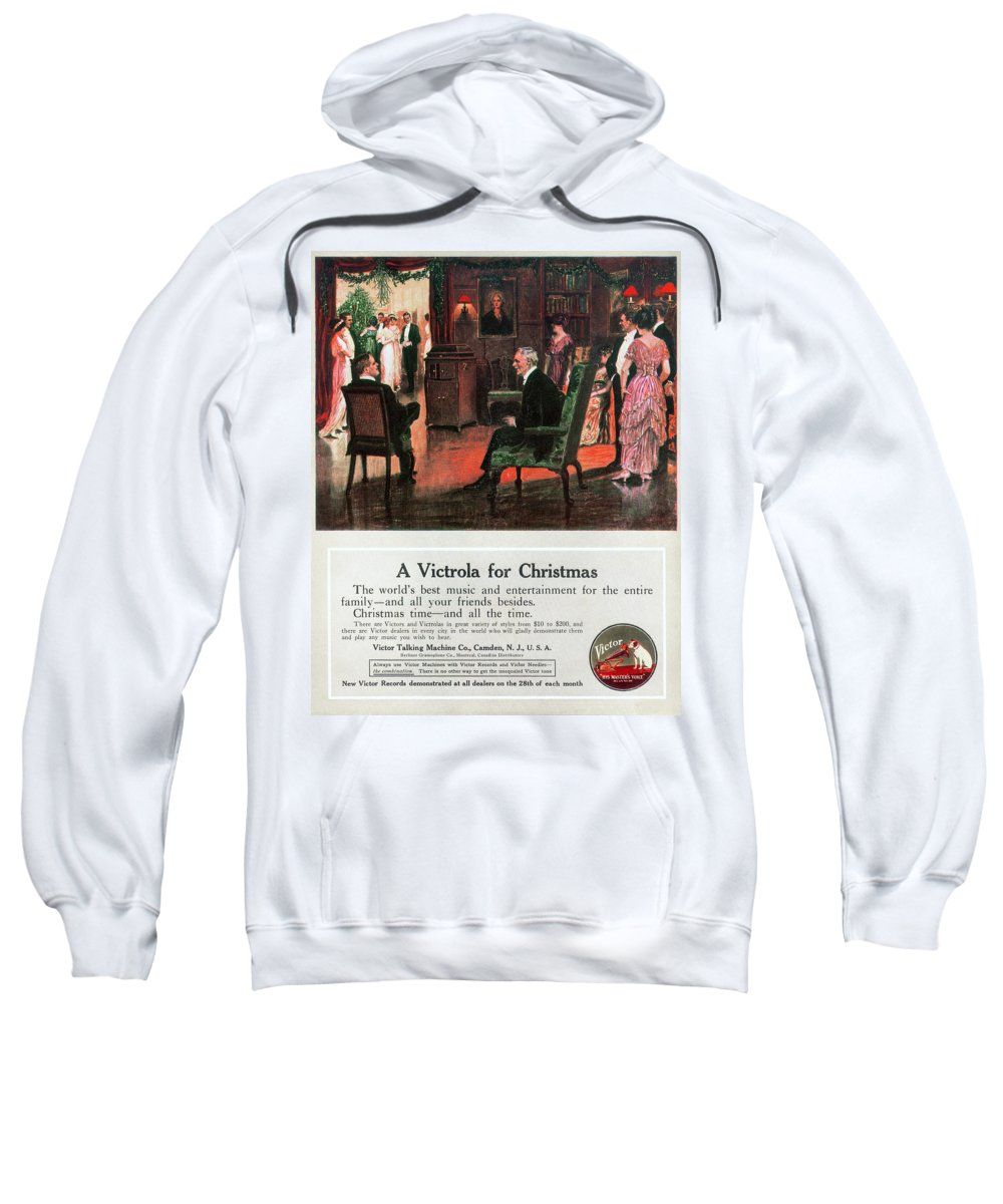 1914 Sweatshirt featuring the photograph Phonograph, 1914 by Granger