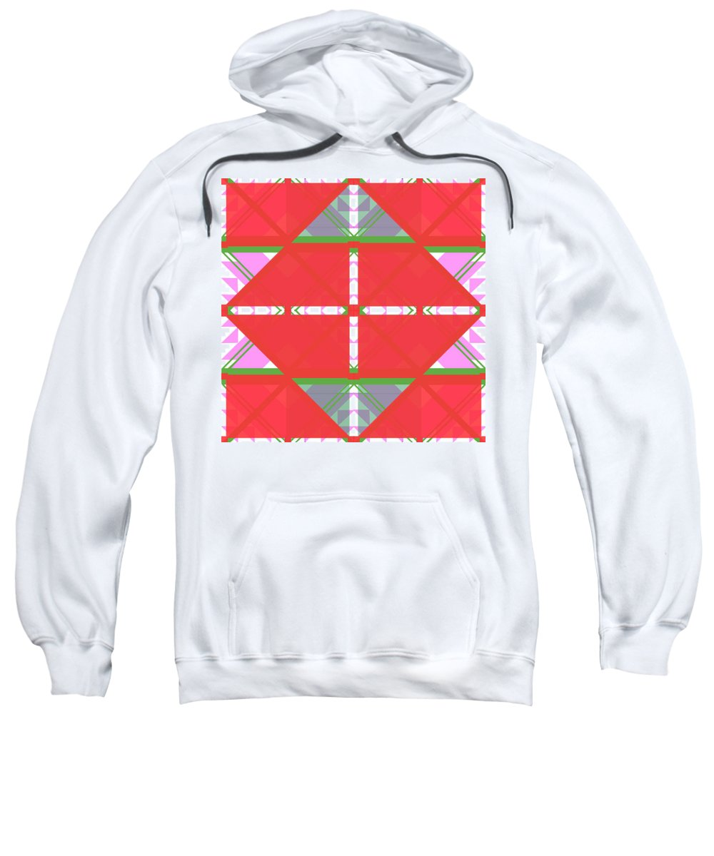 Digital Geometric Abstract Design Pattern Sweatshirt featuring the digital art Pic11_coll1_15022018 by John England
