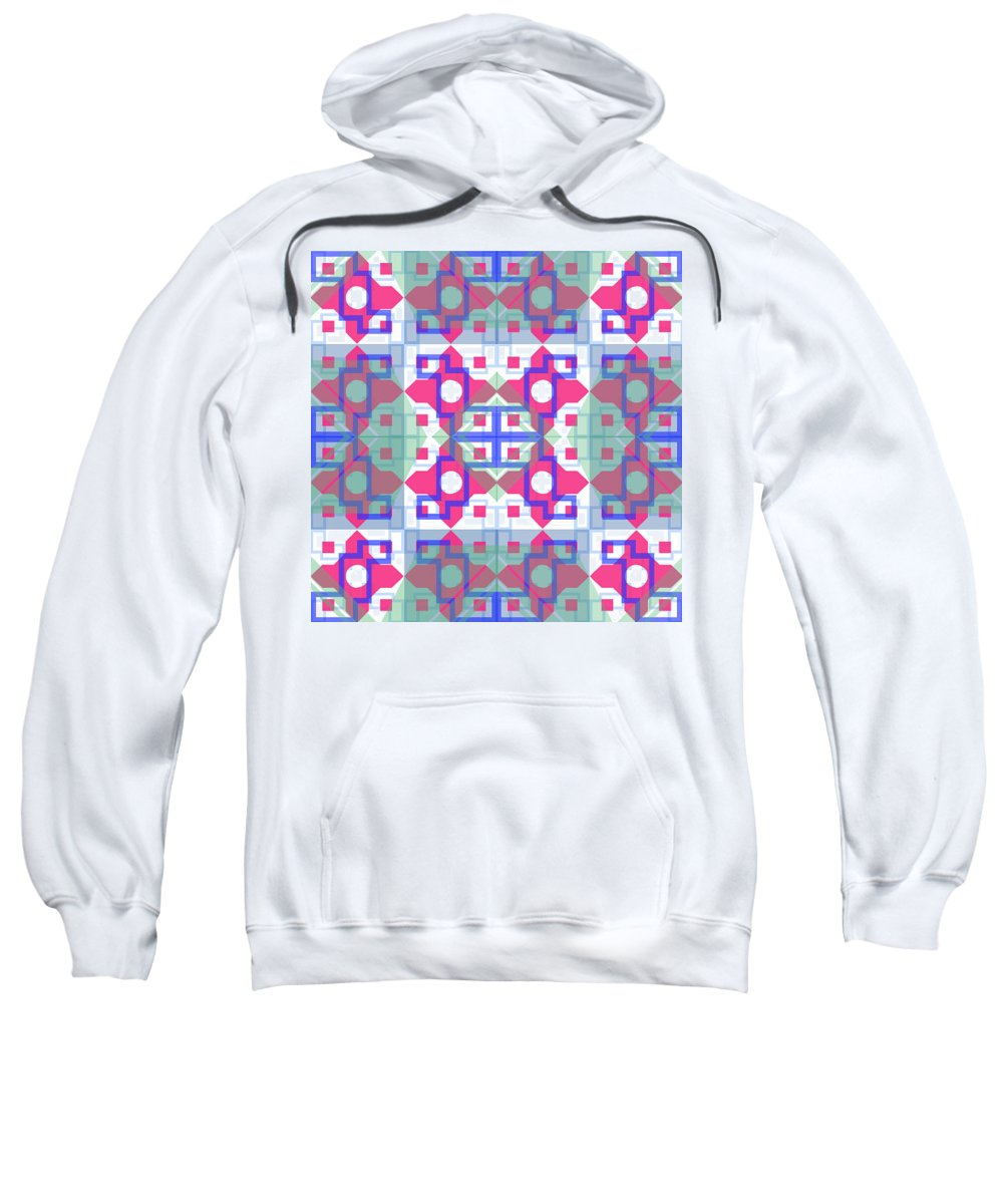 Digital Geometric Abstract Design Pattern Sweatshirt featuring the digital art Pic14_coll1_15022018 by John England