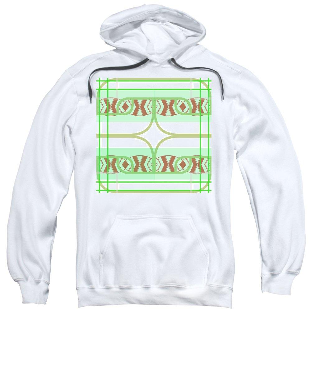 Digital Geometric Abstract Design Pattern Sweatshirt featuring the digital art Pic6_coll1_15022018 by John England
