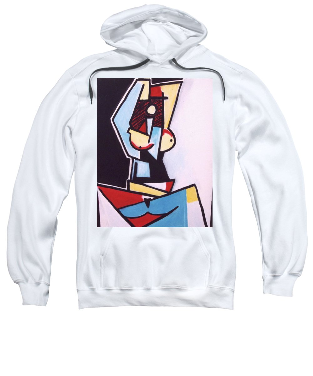 Picasso Sweatshirt featuring the painting Picasso by Thomas Valentine