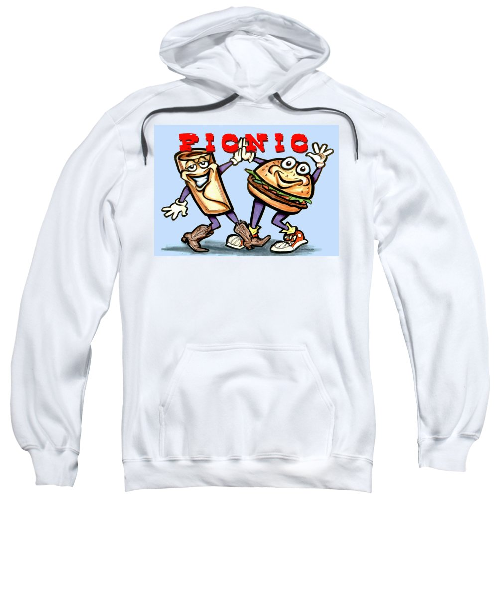 Picnic Sweatshirt featuring the greeting card Picnic by Kevin Middleton