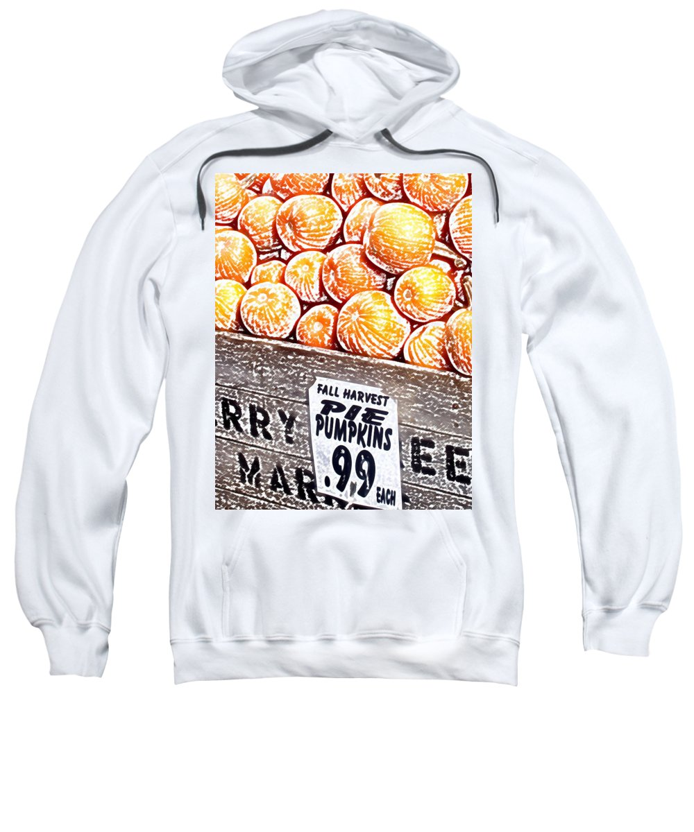 Pumpkins Sweatshirt featuring the photograph Pie Pumpkins For Sale by Wayne Potrafka