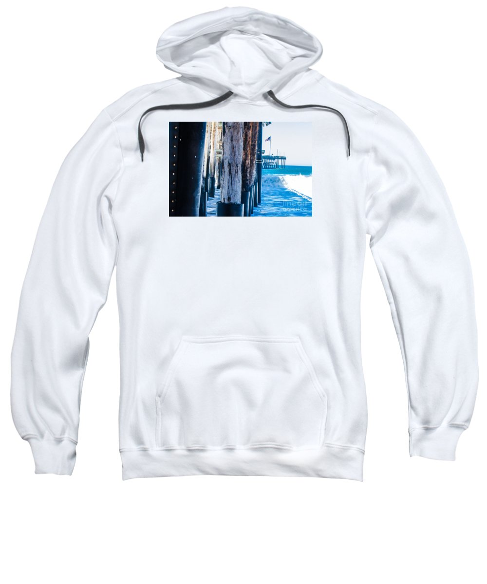 Pier Sweatshirt featuring the photograph Pier Ventura Ca by Kevin Eckert Smith