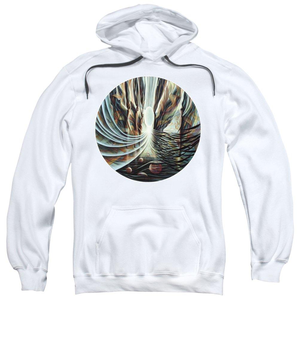 Spiritual Paintings Sweatshirt featuring the painting Pillars by Nad Wolinska