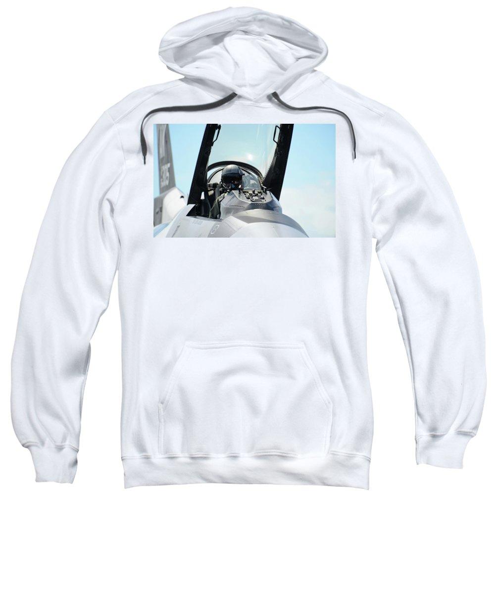 Pilot Sweatshirt featuring the digital art Pilot by Bert Mailer