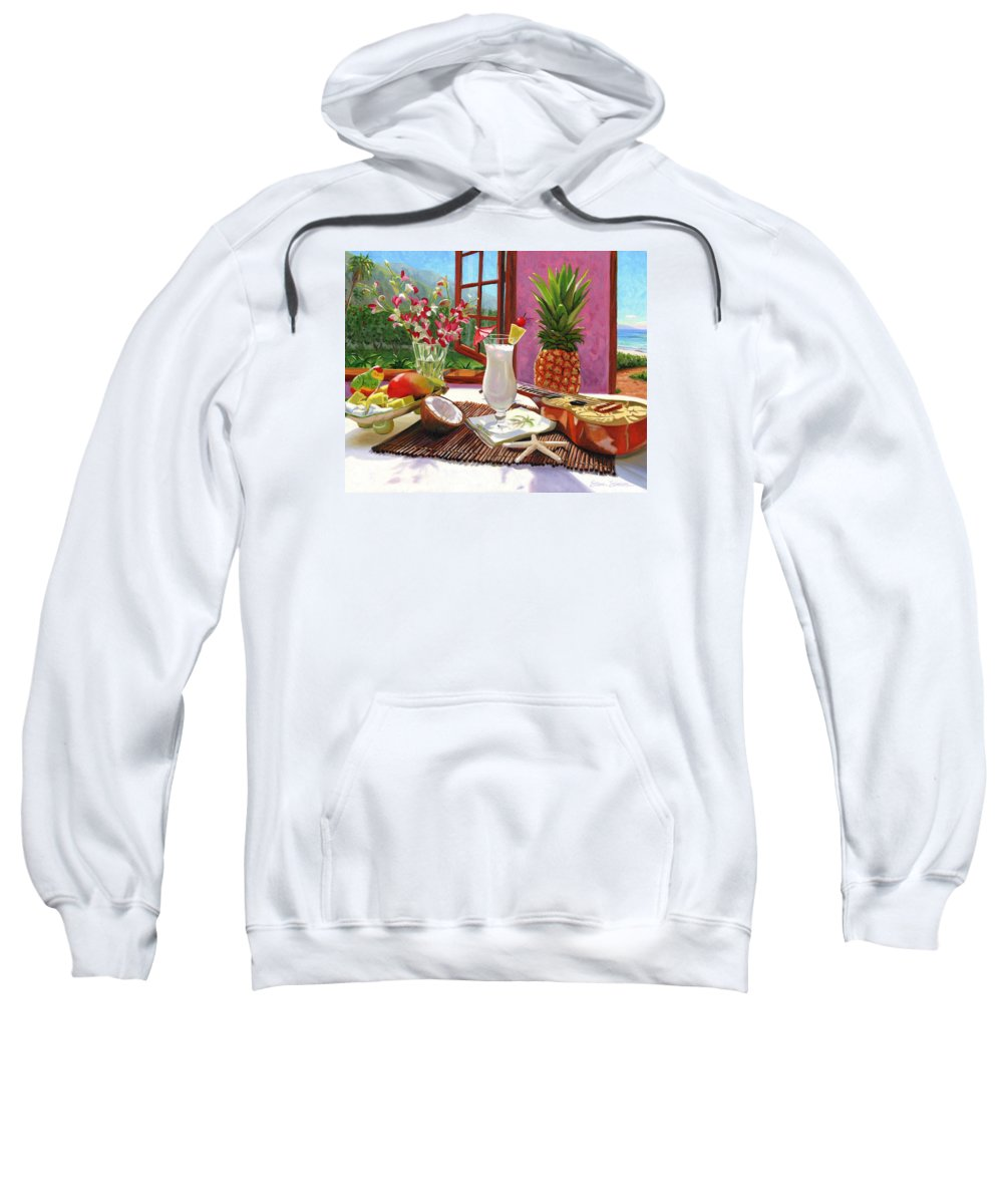 Pina Colada Sweatshirt featuring the painting Pina Colada by Steve Simon