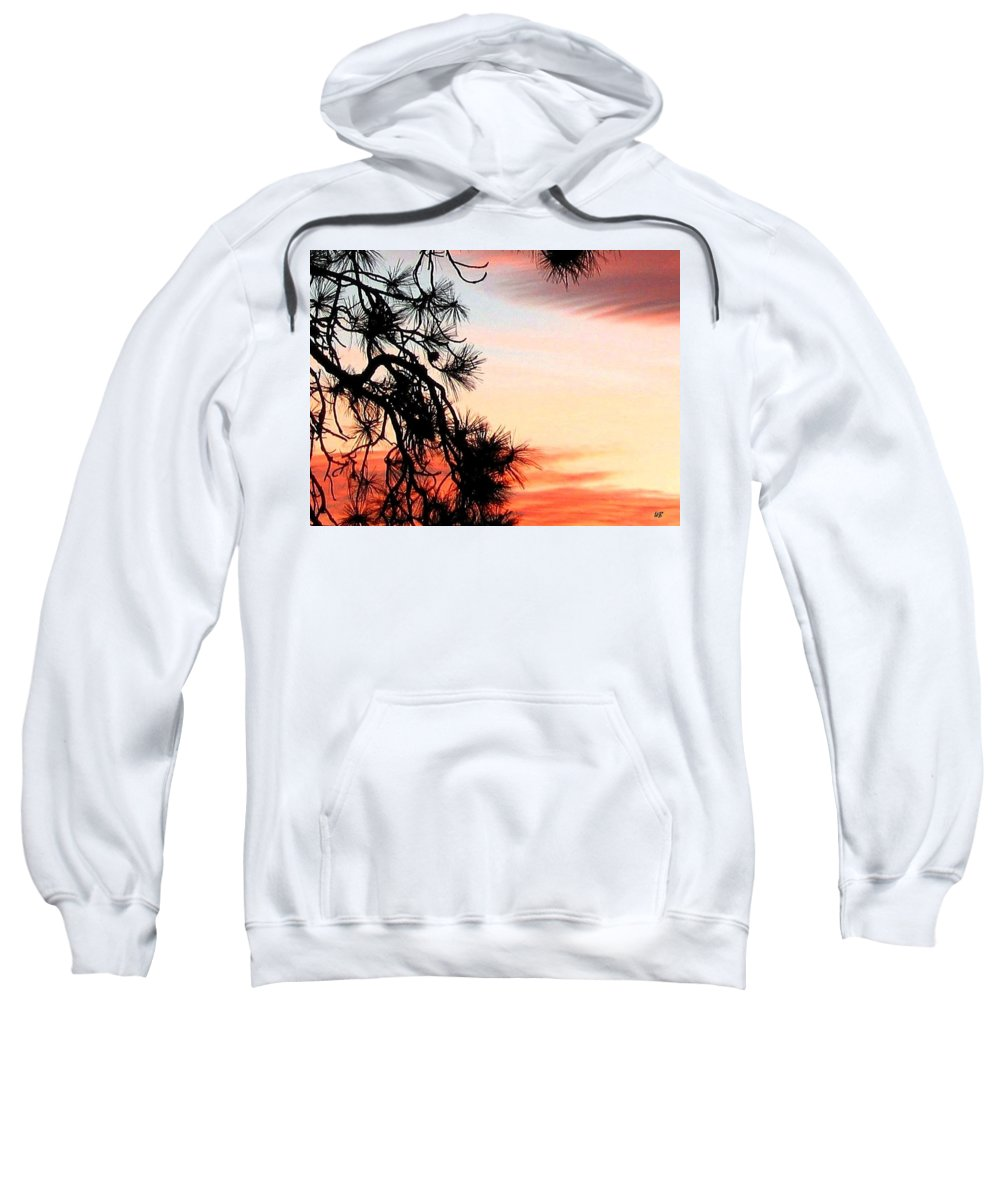 Sunset Sweatshirt featuring the photograph Pine Tree Silhouette by Will Borden