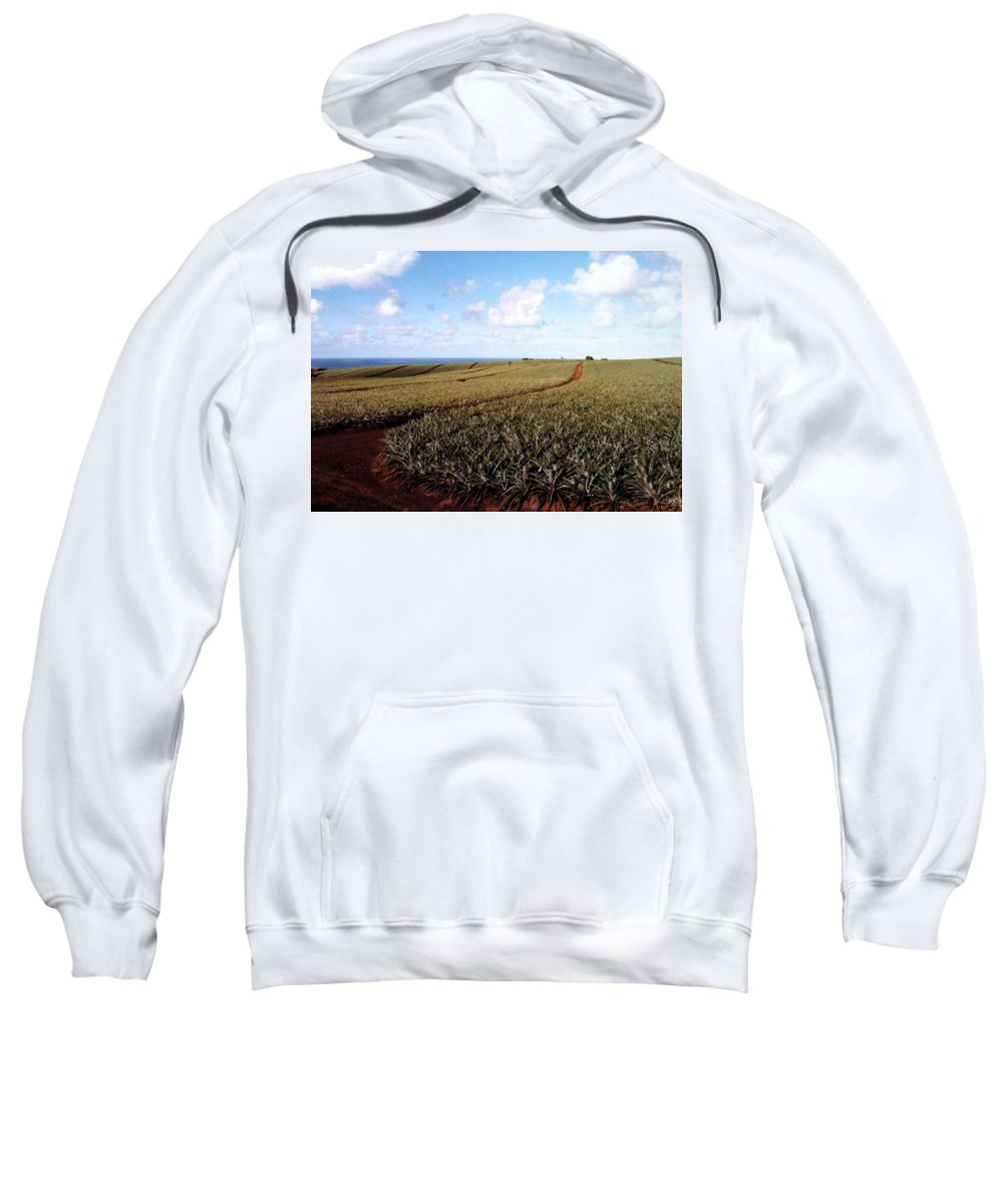 1986 Sweatshirt featuring the photograph Pineapple Fields by Will Borden