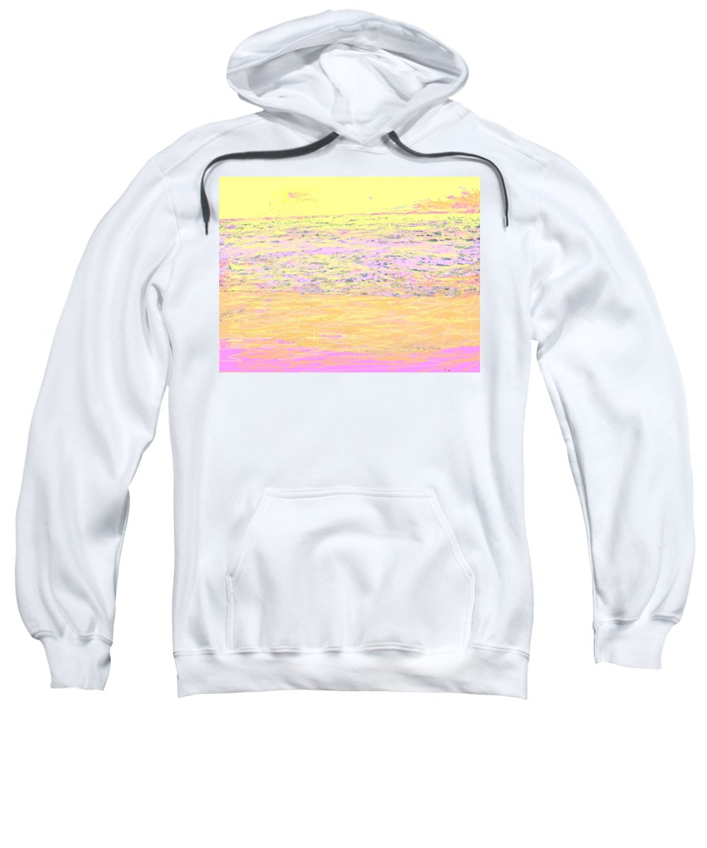 Seascape Sweatshirt featuring the photograph Pineapple Sunset by Ian MacDonald
