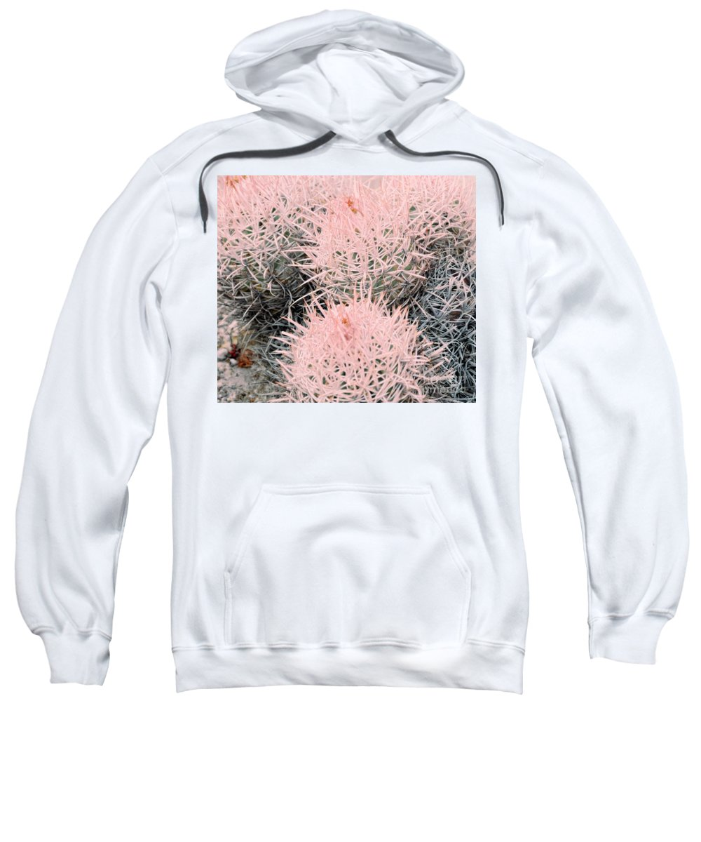 Pink Sweatshirt featuring the photograph Pink Cactus by Kathleen Struckle