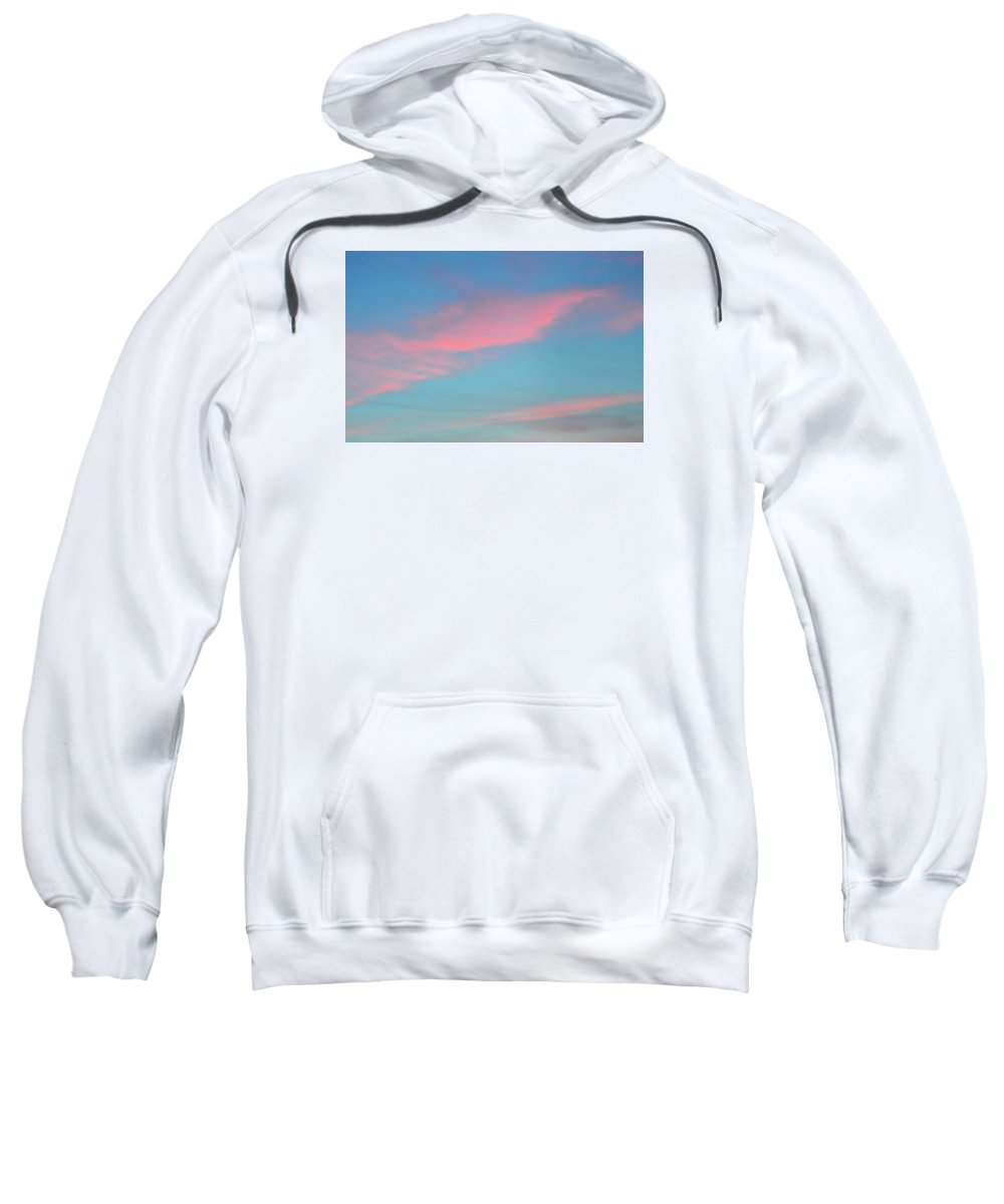 Abstract Sweatshirt featuring the photograph Pink Clouds After Sunset by Lyle Crump