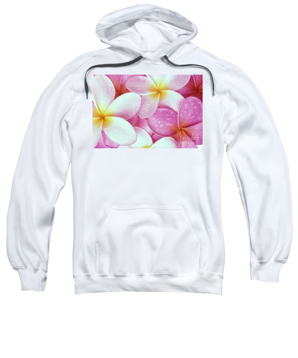 Aloha Sweatshirt featuring the photograph Pink Plumeria by Carl Shaneff - Printscapes